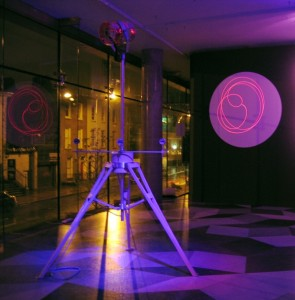 Laser Theremin installation in Dublin